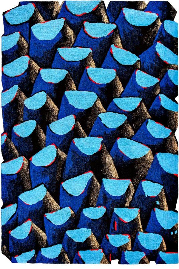 Tapis / Rug Bleu palmier by Julien Colombier