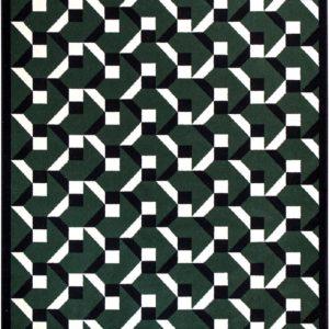 Tapis / Rug Constructivisme vert vy Joséphine Pinton