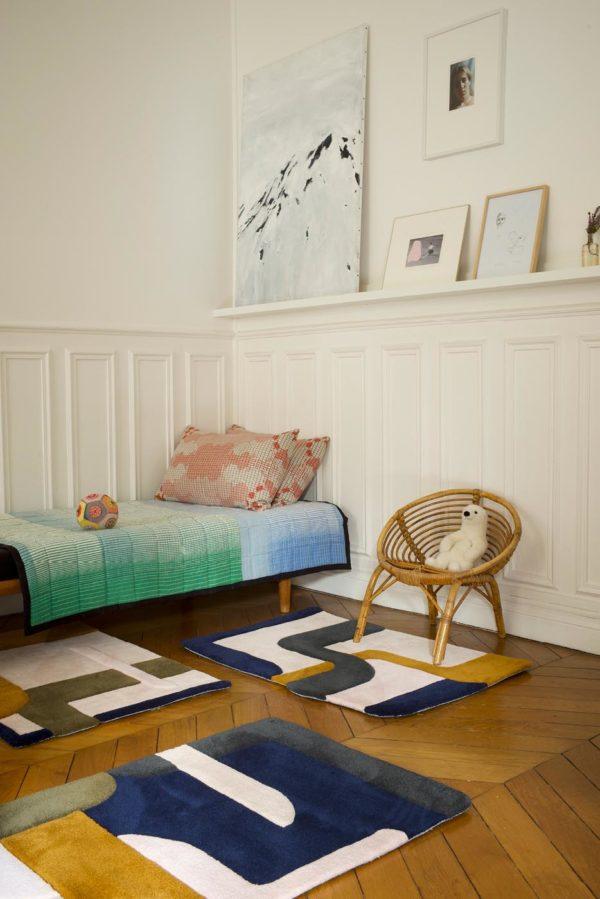 Tapis / Rug Element by Mapoesie Elsa Poux in situ