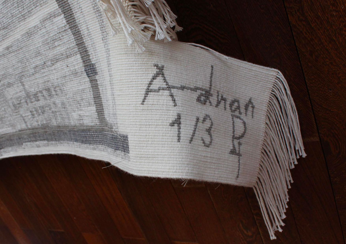 ETEL ADNAN, Pinton signature