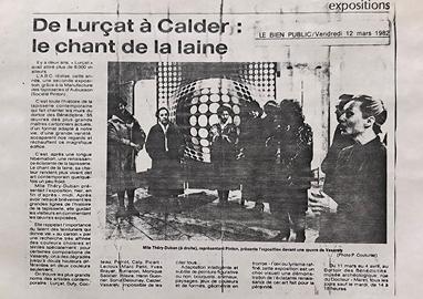 Article de presse Pinton 1982